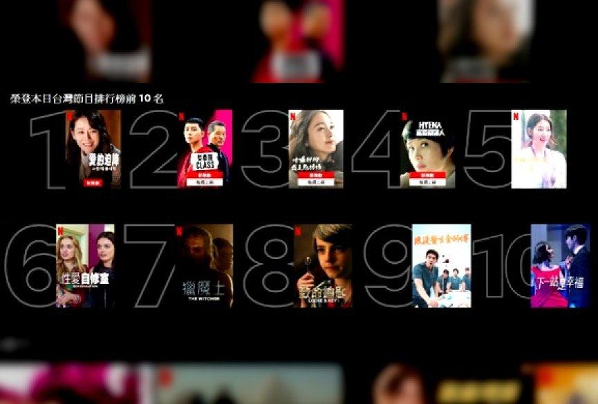 Netflix推出本日Top 10功能!韩剧包办台湾热门节目前五名
