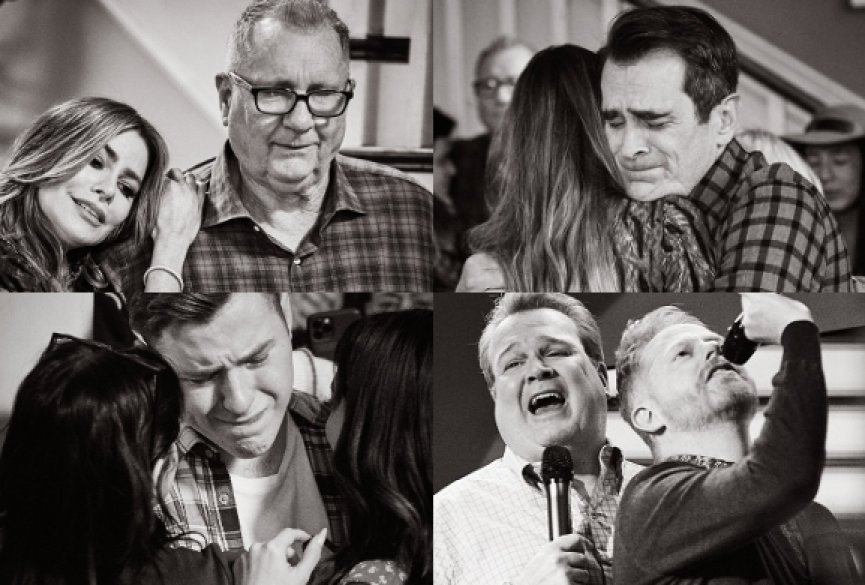 《摩登家庭》片场最后一天!演员含泪道别