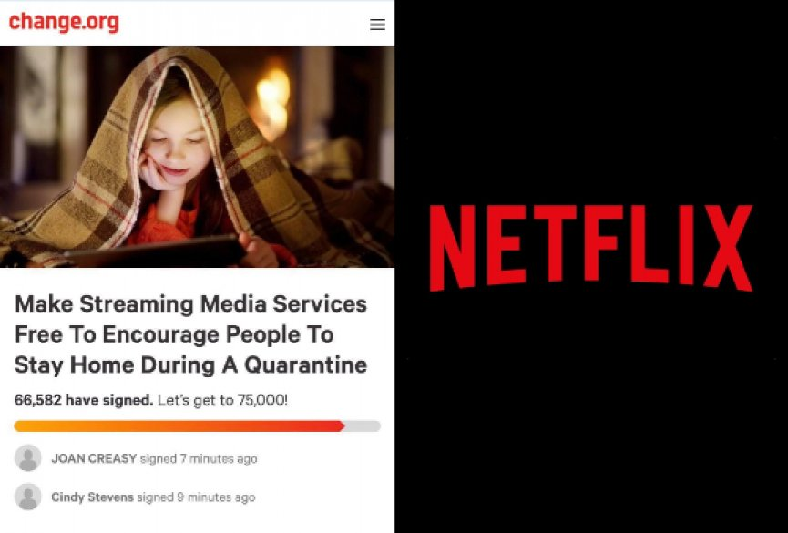 号召Netflix鼓励大众待在家!7万人连署提案串流平台60天免费看