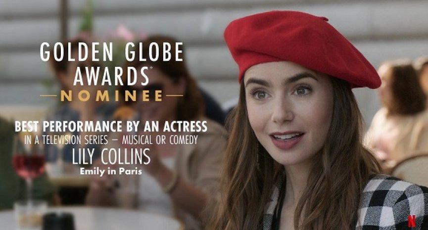 《艾蜜莉在巴黎》惊喜入围金球奖最佳喜剧剧集!莉莉柯林斯角逐视后曝入围感言